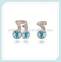 Music Note Shape 2 gram gold beautiful designed earrings ER-00075