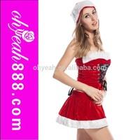 High fashion mature women special design sets unique dance sexy christmas costume