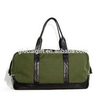 Large Canvas Leather Travel Tote Luggage Shoulder Weekender Duffel Satchel Bag For Men