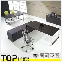 L Type Design Aak Veneer Desk Wooden Executive Office Desk