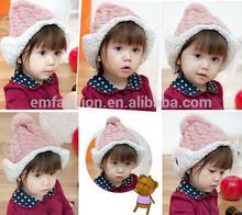 Fashion New Sweet Style Jacquard Earflap Children's Winter Warm Acrylic Knit Hat