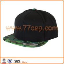 Hot selling 6 panel plain wholesale flat visor caps