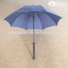 Hot vente 8 côtes pleine noir auto ouvert couteau parapluie