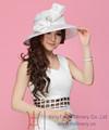 mulheres designer igreja sinamay chapéus elegantes chapéus branco com laço grande