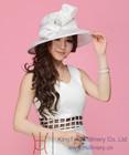 Designer Womens Sinamay Church Hats Elegant White Hats With Big Bow