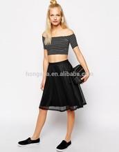 China Manufacturer Latest skirt Design pictures Monki Mesh Tennis Skirt HSS 7037