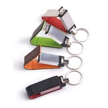 Cheap promotional leather usb flash drive 2gb/ low price elegant leather usb flash memory for christmas holiday