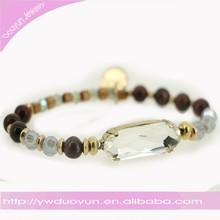 Fashion Jewelry Big Clear Crystal Glow Bracelet