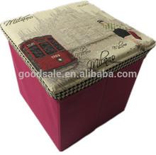 New design Folding jacquard cloth storage seat