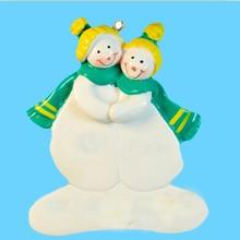unique christmas pottery snowman ornaments