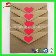 ZX308 2015 Custom Colorful Kraft Paper Envelopes