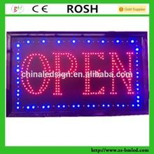 Hotsale sparkle led sign LED Open sign 48cmx25cm DIP LED light sign18.9x10 inches Neon OEM service
