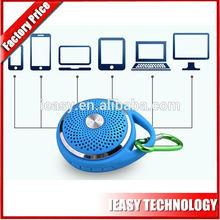 Newest design mini protable speaker roundoutdoor bluetooth speaker hang hook mini car music speaker