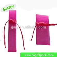 cheap printed thin bag with organza fabric wholesale