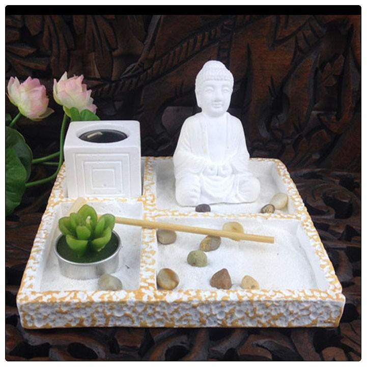 mini jardim oriental:Miniature Zen Garden Buddha