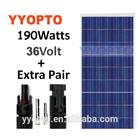 solar panel with VDE,IEC,CSA,UL,CEC,MCS,CE,ISO,ROHS certification 190-225w solar panelSolar