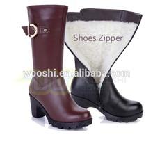leather shoes black nylon zipper,eco-friendly,OEM available