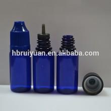 10ml PET blue plastic eye dropper bottle make up in China