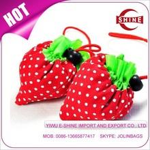 632 strawberry foldable shopping bag promotional bag