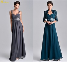 MI-029 Sweetheart Neck Long Chiffon Mother Of The Bride Lace Dresses With Jacket 2014