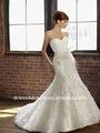 frente de curto e longo nas costas do vestido de casamento com roseta e rendas