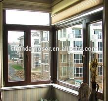 Wood aluminum turn and tilt bay window