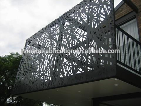 Laser de coupe en aluminium ext rieur panneau mural for Laser decoratif exterieur