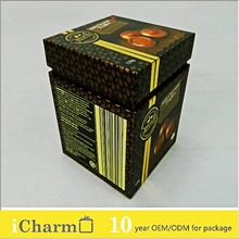 Most popular gift & gourmet box! Salted caramel chocolate box for chocolate truffles with golden color strip