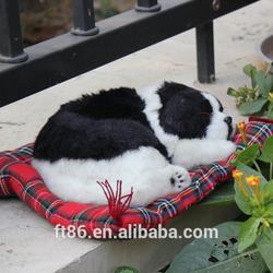 snoring simulation plush realistic breathing sleeping dogs
