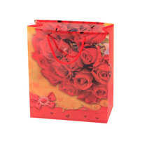 foldable shopping bag full printed rose flower company name ang logo pp bag wholesale in high quality and competitive price