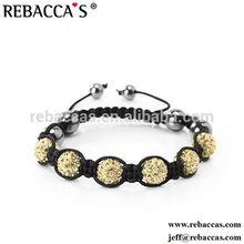 2015 Fashion Handmade Chinese Knot Ceramic Bead American Flag Shamballa Charm Bracelet