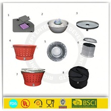 High tearing resistance smokeless charcoal single-use charcoal grill