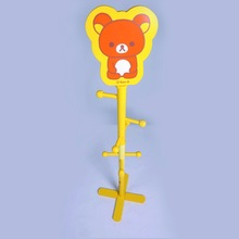 Pretty Cartoon Wooden cheap coat rack and Clothes Tree for Kids