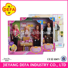 Plastic product happy family doll house with FURNITURE