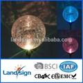 cixi landsign serie de lujo 1 llevó tres colores rgb solar jardín de luz led de la lámpara estaca camino crujido bola de cristal