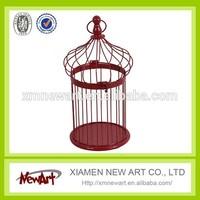 small bird cage wire mesh antique round metal bird cage wedding decoration