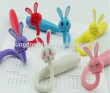 rubbit pen for rubbit design, wholesales cartoon animal ball point pen for kids