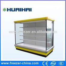 Supermarket Multilayer laminates free combination display fridge forfruit and vegetable