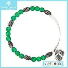 turquoise beads oval metal beads alex and ani bangle with charms