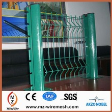 2014 hot sale peach-shape column/square wire mesh fence/backyard metal fence alibaba china supplier