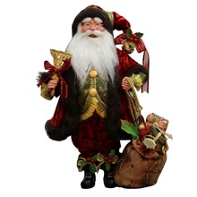 """18"""" Inch Standing Whimsical Santa Claus Christmas Figurine Figure Decoration"""