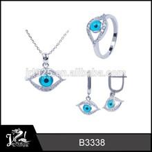 New Model The Evil Eyes Jewelry set Ladies Wholesale Costume Beautiful Imitation Jewelry Sets