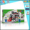 2014 venda quente bloco educacional da boneca e trilho de trem, engraçado blocos de construção para as crianças 90 pcs