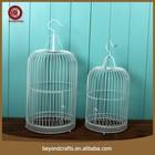 Classic portable design simple white iron wire bird cage