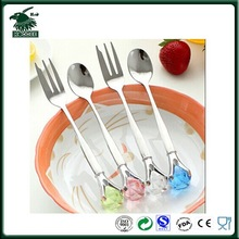 Hot selling originality korea diamond stainless spoon and fork