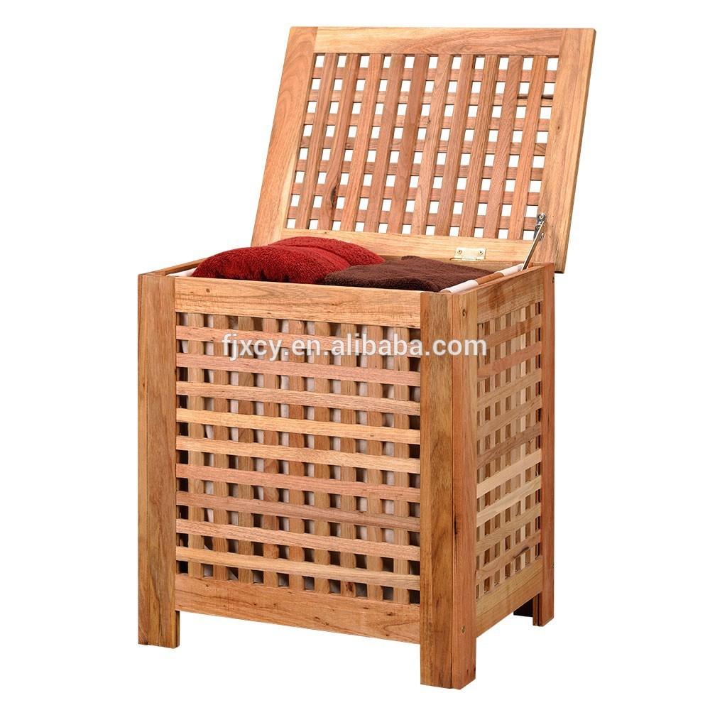 Mueble de madera para ropa sucia for Cocina lidl madera