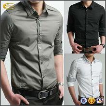 High quality New Fashion Luxury latest shirt designs for men Casual Slim Fit Stylish Formal Long Sleeve man Shirt OEM supplier
