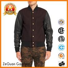 14 years OEM stone color wool american letterman plain varsity jacket wholesale