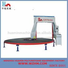 PLC control touche screen vacuum equipment circular horizontal cutting machine for cutting polyurethane foam