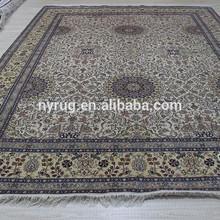 9x12 foot handmade natural silk living room rug art design